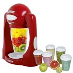 Smoothie Maker rouge + 5 verres suppl