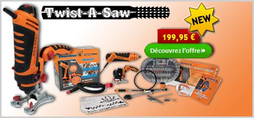 Twist-A-Saw - Outil multifonctions de rénovation