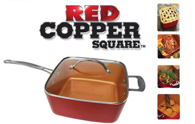 Red Copper Chef Poêle anti-adhésive set 5pcs