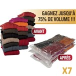 Range O Max lot de 6 sacs vide d'air