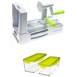 Veggie Cutter l'appareil + Boîtes de Conservation