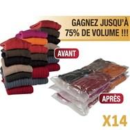 Range O MAx Lot de 12 sacs vide d'air