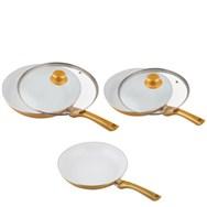 Ceramicore GOLD - Poêles ceramique Set de 5pcs