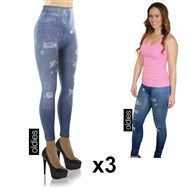 Slim Jeans Legging - Pack de 3