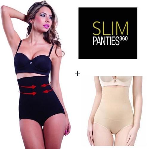 Slim Panties 360 Noir + Beige